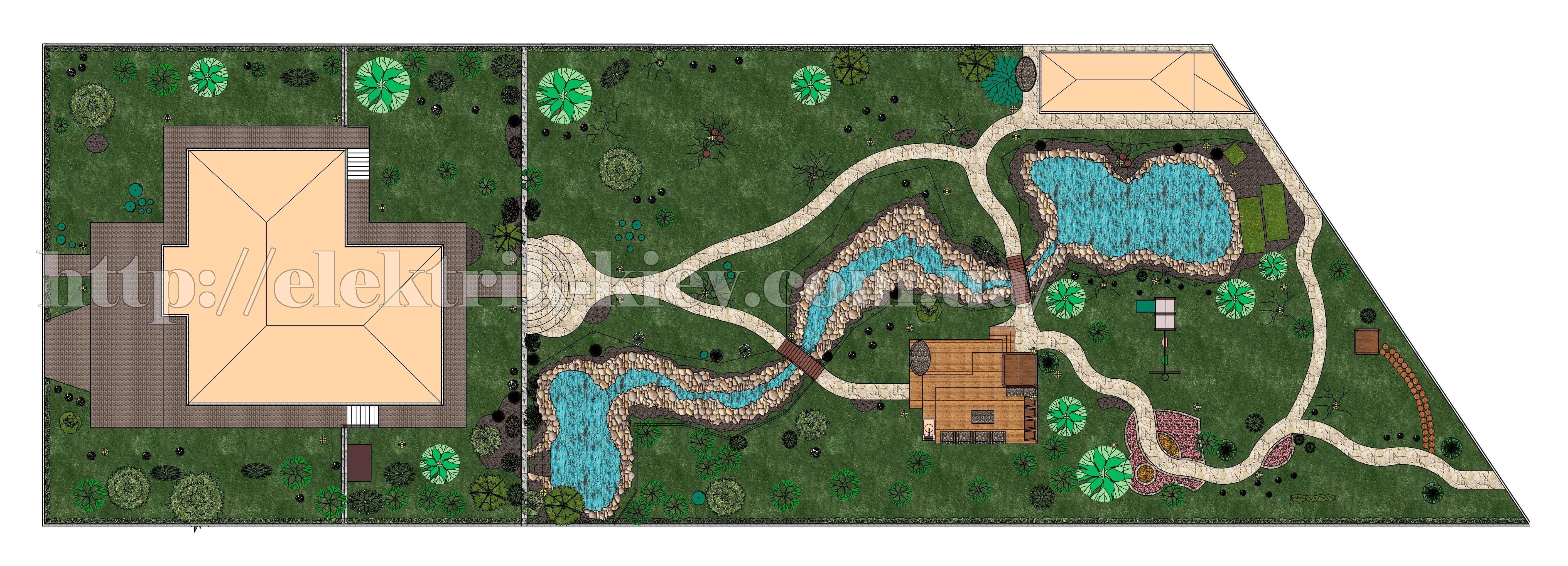 Дизайн ландшафта, проект